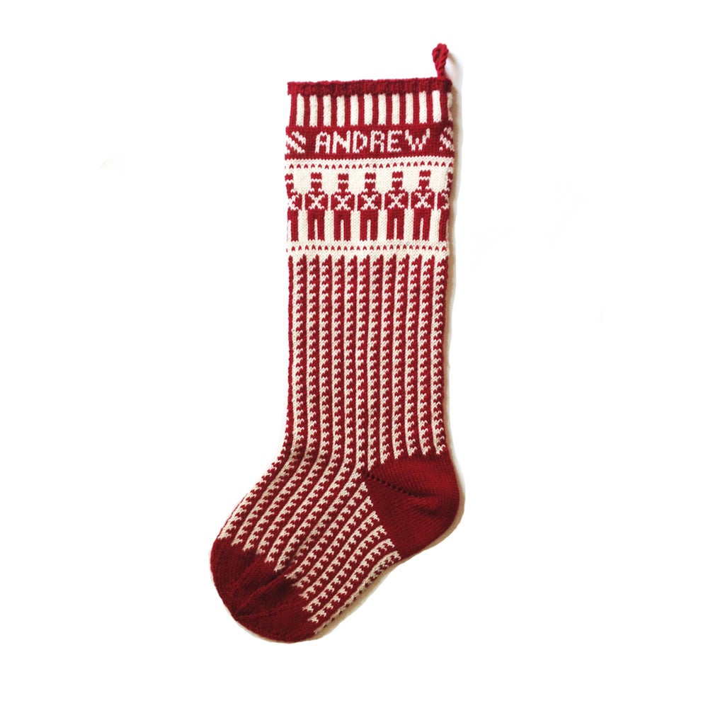 Image of Toy Soldier Christmas Stocking (two color)