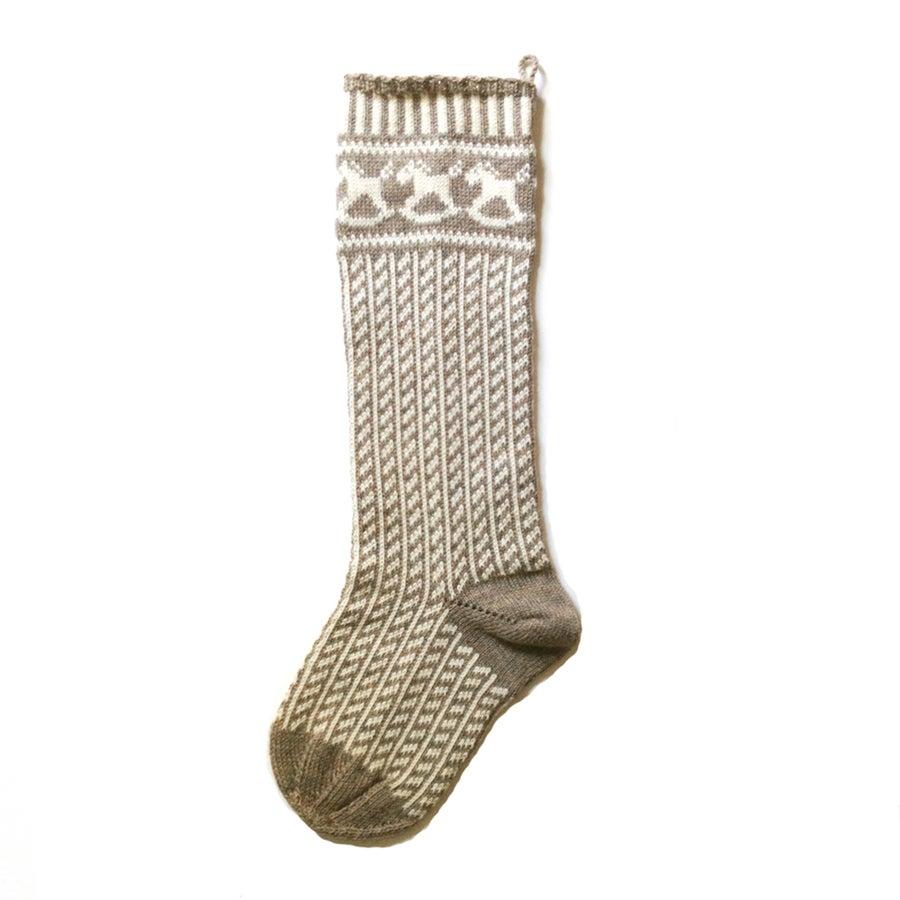 Image of Rocking Horse Christmas Stocking (two color)