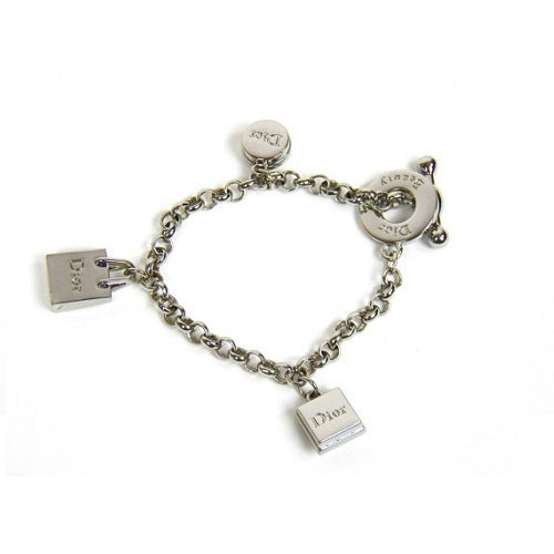 Image of SOLD OUT Christian Dior Silvertone Charm Bracelet