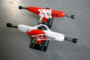 Image of 'Work Buy Skate Die / Buy Me' Skateboard Trucks