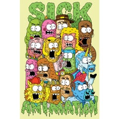Multi Heads Mini-Poster - Sick Animation Shop
