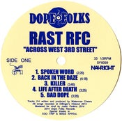 "Image of RAST RFC ""ACROSS WEST 3RD STREET"""