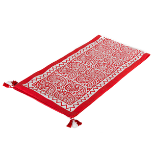 Image of Printed Tablerunner (Red)