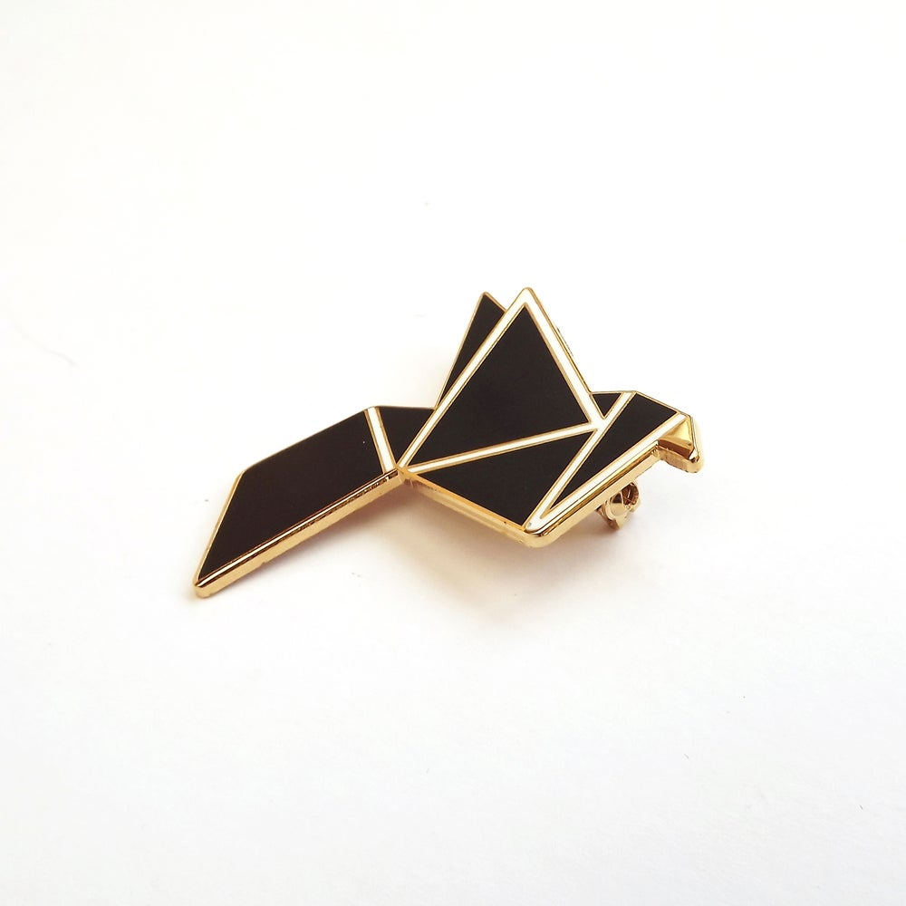 Image of BLACK BIRD BROOCH