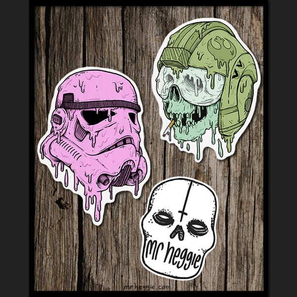 Image of The Big Ass Star Wars Skull Super Shitty Sticker Set