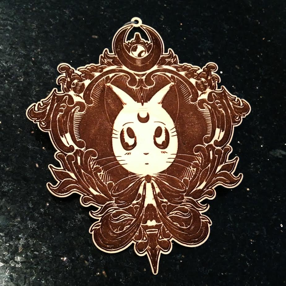 Image of Limited Royal Moon Kitty Wooden Art Piece