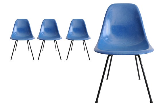 Image of 4 Blue Side chair