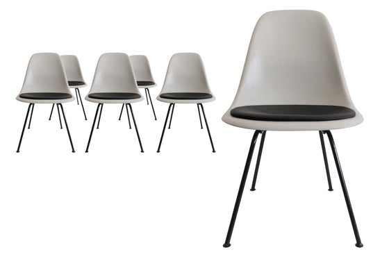 Image of 6 Herman Miller Parchment Sidechairs