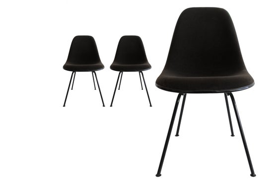 Image of Black Padded Sidechair