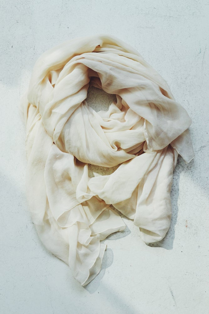 Image of Silk Scarf cream