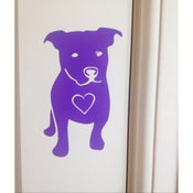 Image of Pitbull heart sticker decal