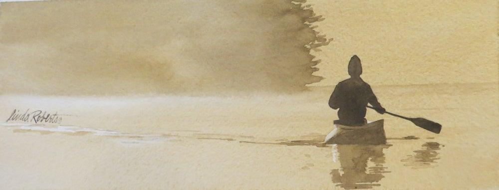 "Image of ""Smooth Waters"" original watercolor"