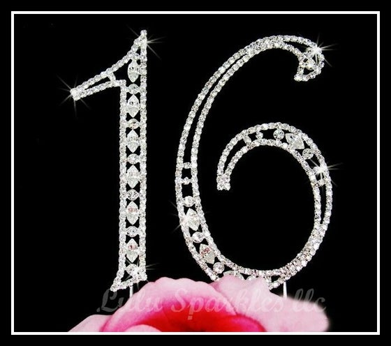 Bling Cake Topper Numbers