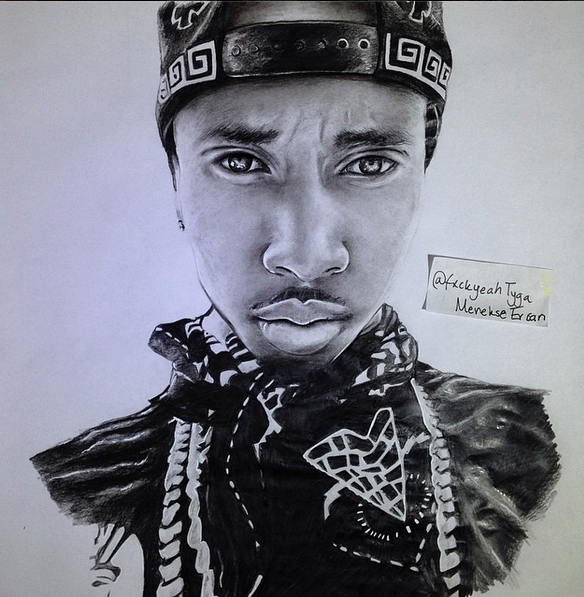 A4 Tyga drawing by me / Golden Soul