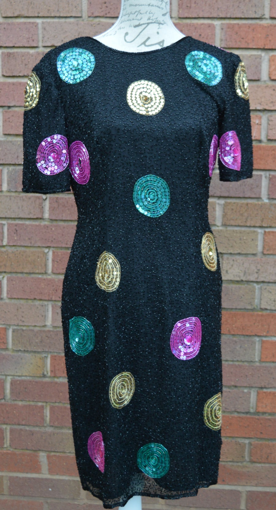 Image of Sequin dress by Leslie Fay