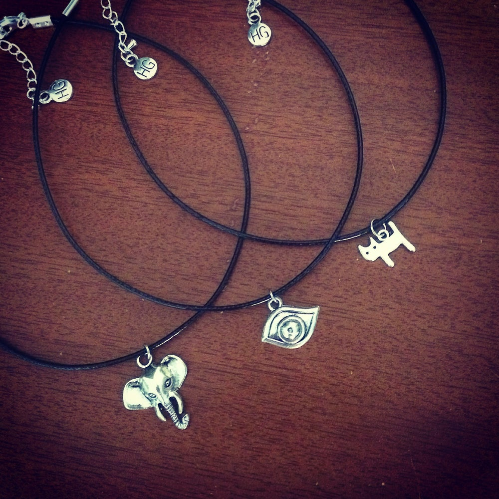 Image of Mini charm choker necklace