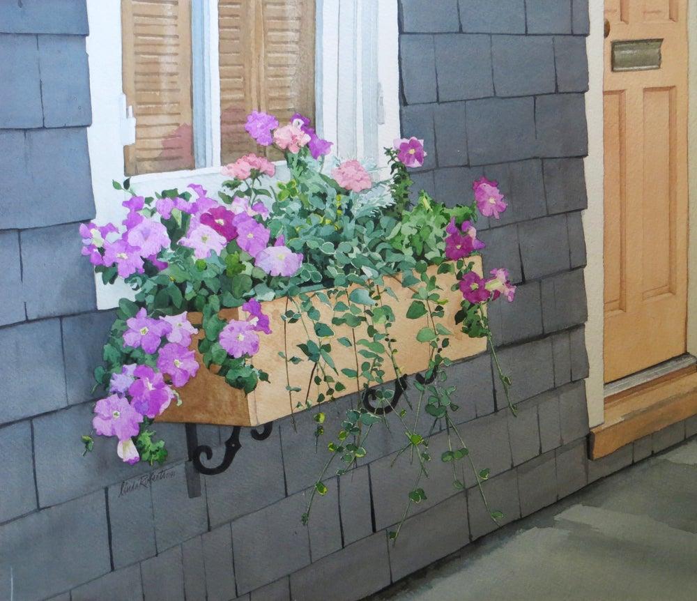 """Image of """"Flower Box"""" original watercolor"""