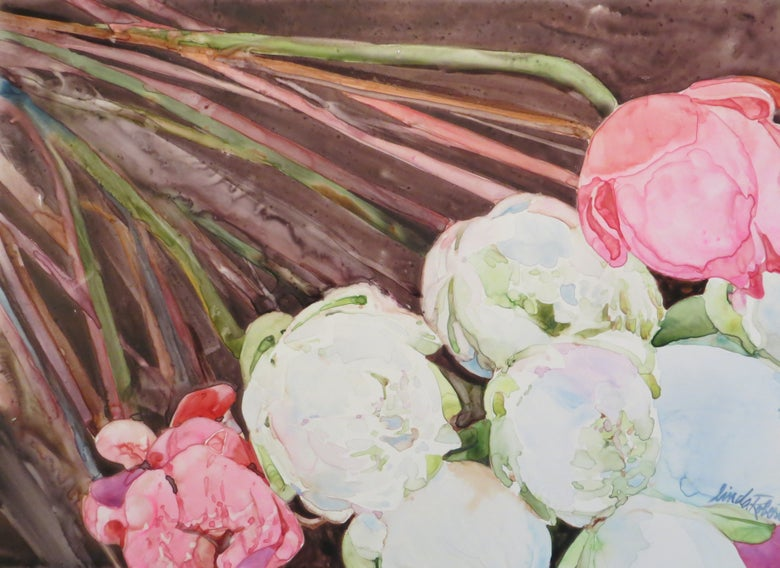 "Image of ""Peonies"" original watercolor"