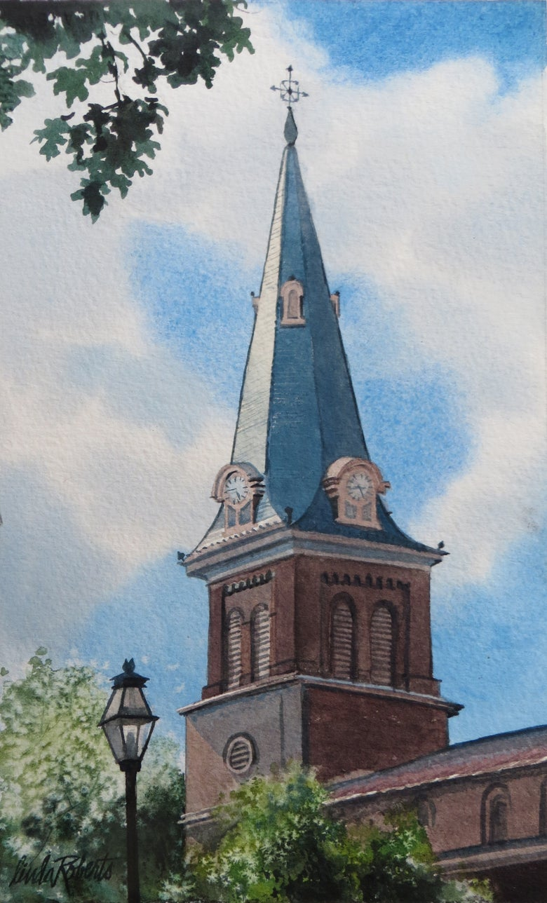 "Image of ""St. Anne's Annapolis"" original watercolor"