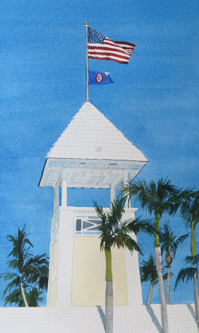 "Image of ""Ocean Reef Welcome"" original watercolor"