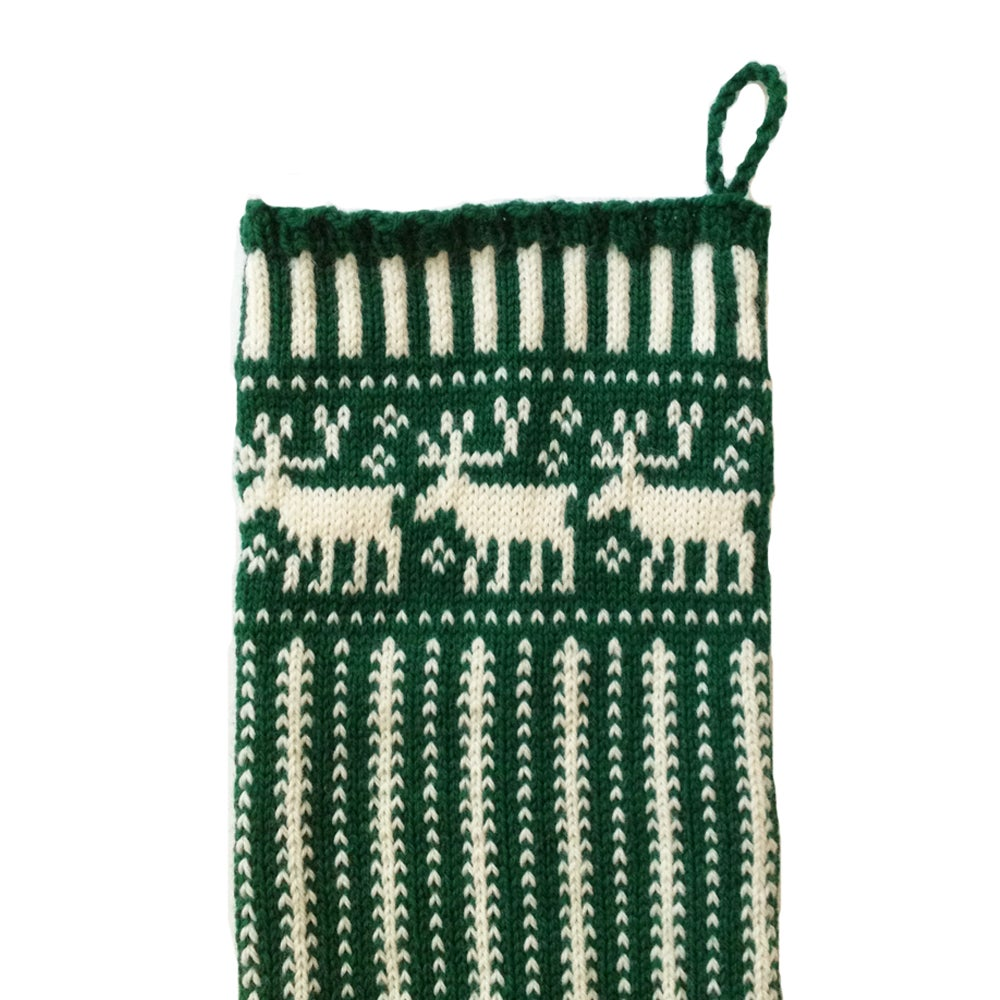 Image of Reindeer Christmas Stocking (two color)