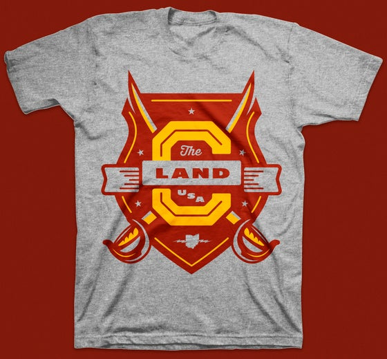"Image of ""The Land"" Shield T-Shirt"