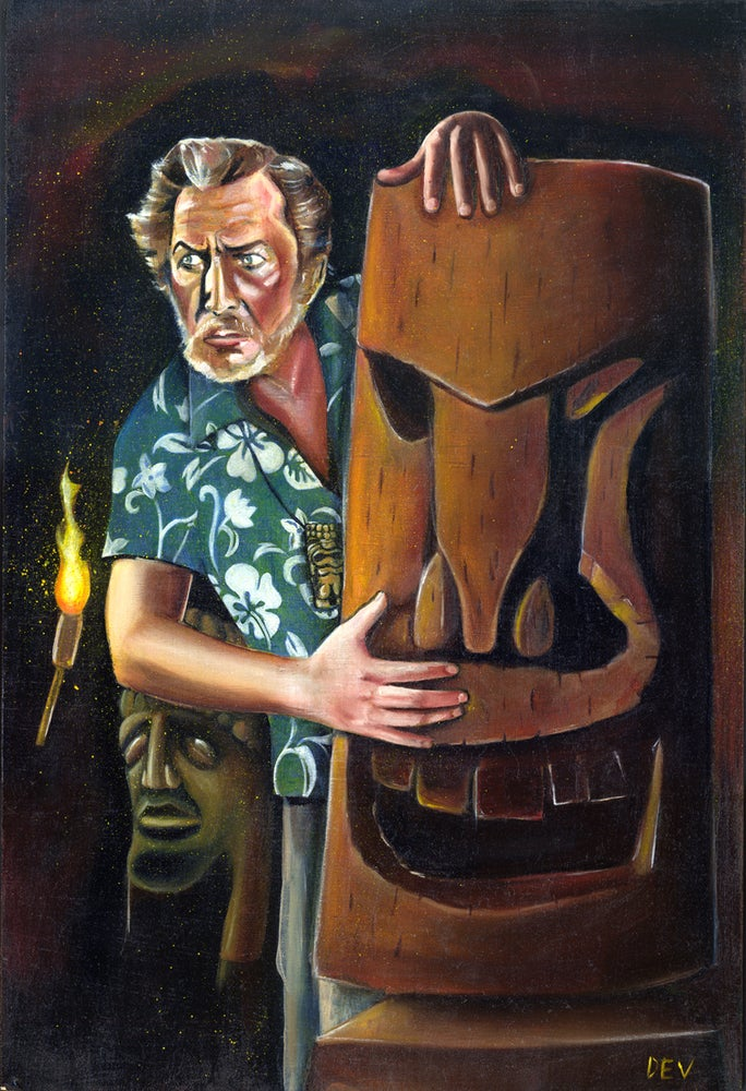 Image of Vincent Price In the Tiki Caves (Fine Art Print)