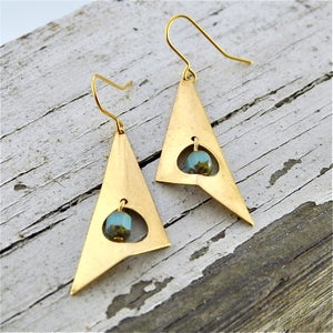 Image of Toma - Geometric Tribal Earrings