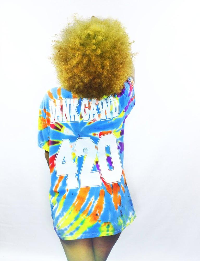 Image of DANK GAWD Tie Dye T-shirt