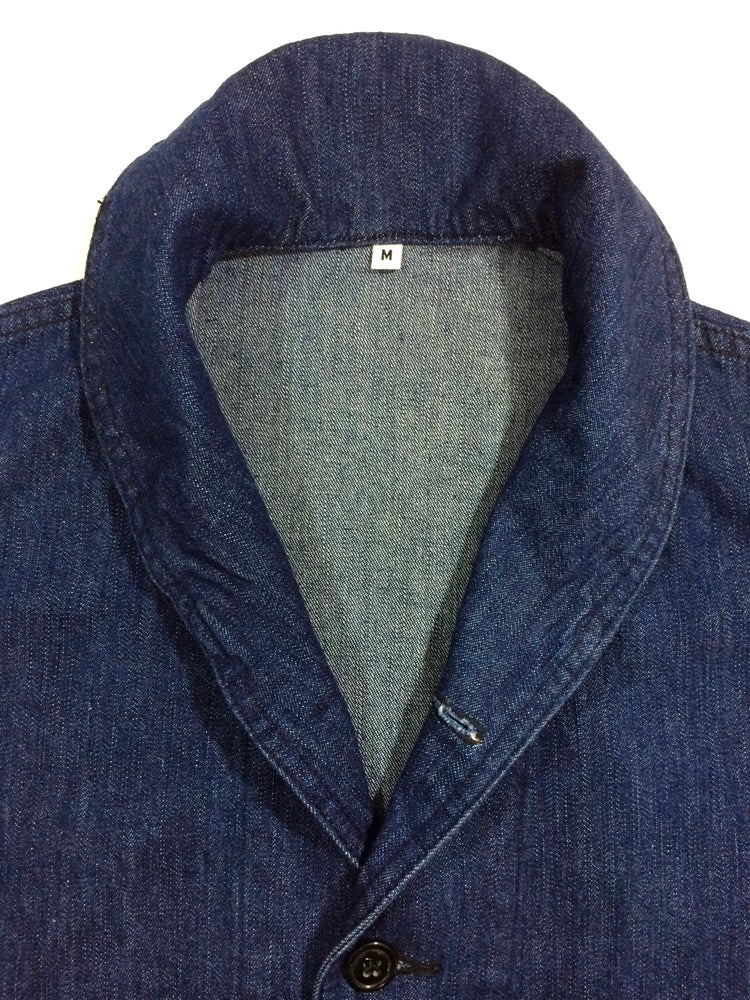 Image of WWII US NAVY SHAWL COLLAR DENIM JACKET