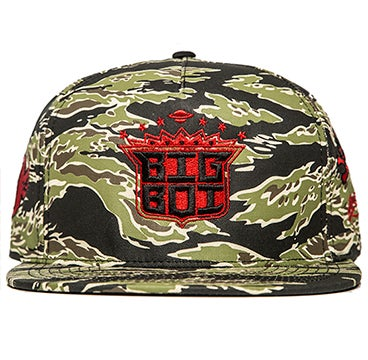 Image of SSUR x BIG BOI - Logo Snapback (Tiger Camo)