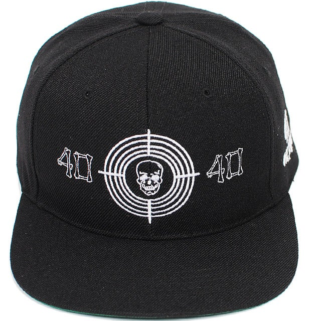 Image of 40 oz NYC - Skull Target Snapback (Black)