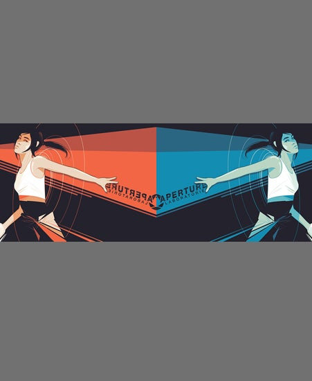 "Image of ""PORTAL & PORTAL 2"" by Craig Drake, Screenprint Set of 2"