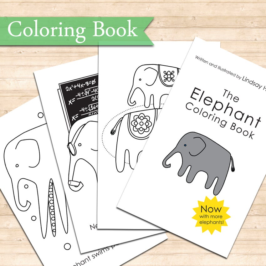 Image of The Elephant Coloring Book