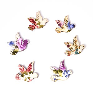 Image of Floral Dove Brooch