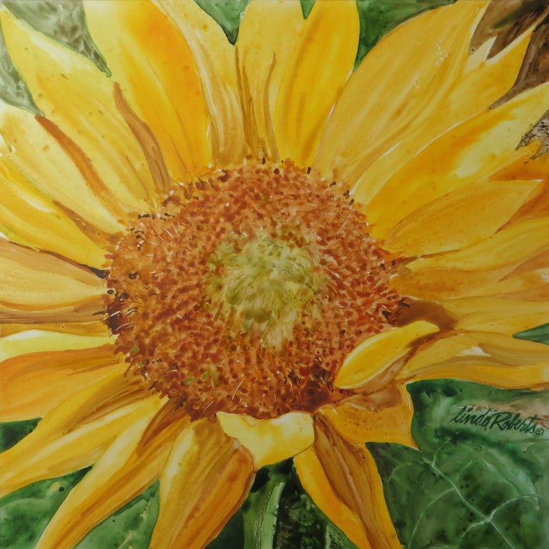 "Image of ""Sunflower"" original watercolor"