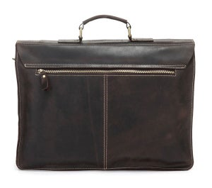 "Image of Vintage Handmade Crazy Horse Leather Briefcase Messenger 14"" 15"" Laptop 13"" 15"" MacBook Bag (n67-2)"