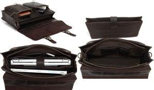 """Image of Vintage Handmade Crazy Horse Leather Briefcase Messenger 14"""" 15"""" Laptop 13"""" 15"""" MacBook Bag (n67-2)"""