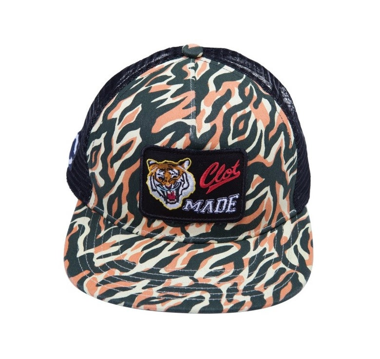 Image of CLOT - Tiger Camo Mesh Snapback (Red)
