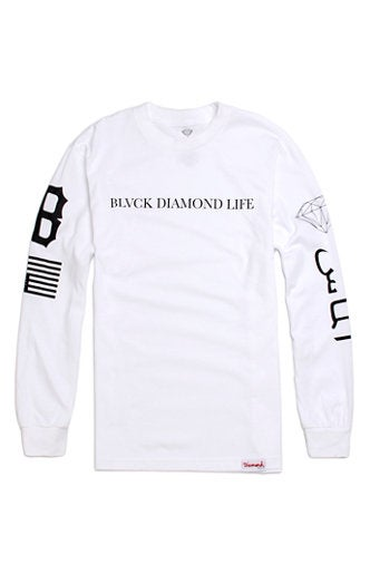 Image of Diamond Supply Co. x Black Scale - Blvck Diamond Life (White)