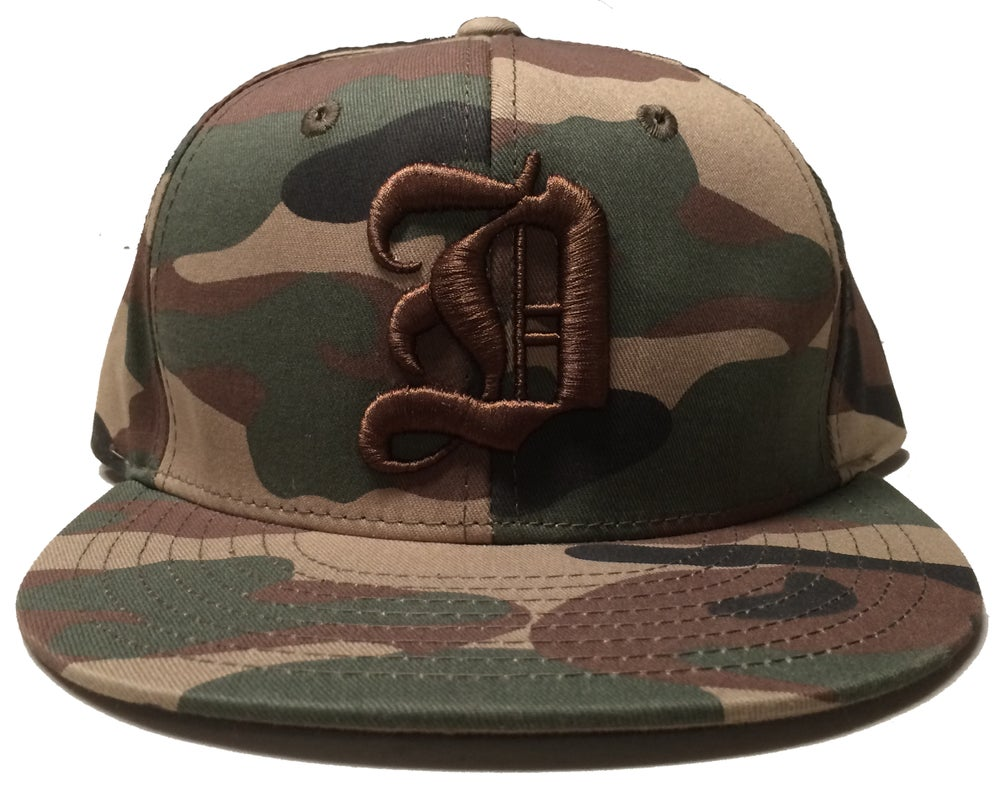 "Image of ""D"" Snapback - Camo"