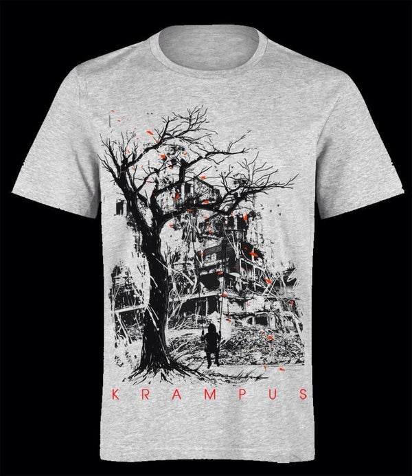 Image of Krampus - Aftermath - Male shirt White