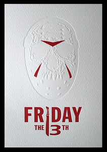 Image of Friday the 13th Letterpress Print
