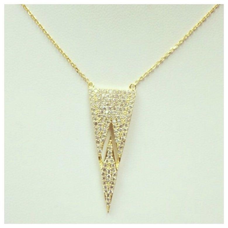 Image of Split Trapeze Necklace
