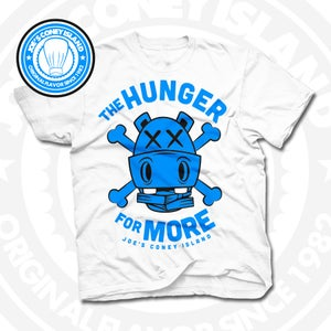 Image of Hunger for More White (Sports Blue) Tee