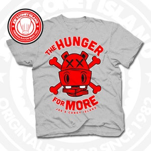 Image of Hunger for More Grey (Red) Tee