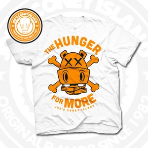 Image of Hunger for More White (Orange) Tee