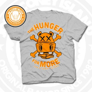 Image of Hunger for More Grey (Orange) Tee