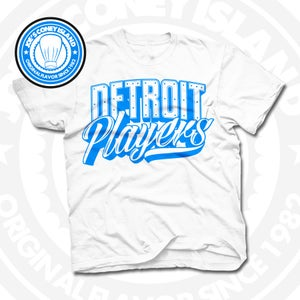 Image of Detroit Players White (Sports Blue) Tee