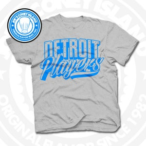 Image of Detroit Players Grey (Sports Blue) Tee